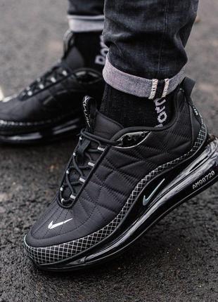 Шикарные мужские спортивные кроссовки nike 720 в черном цвете ...