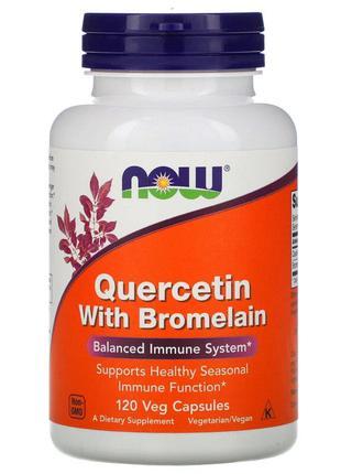 Кверцетин с Бромелайном, Quercetin with Bromelain, Now Foods, ...