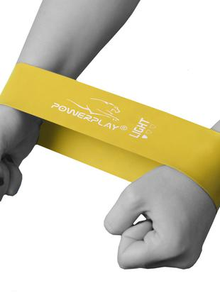 Фітнес гумка PowerPlay 4114 Light Жовта (500*50*0,6 мм.)- супр...