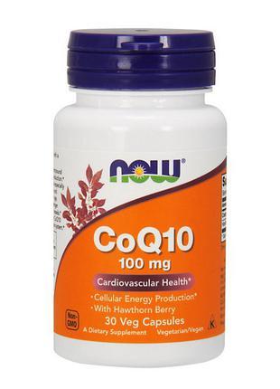 Коферменты и боярышника экстракт, NOW, CoQ10, 100 mg, 30 вегет...