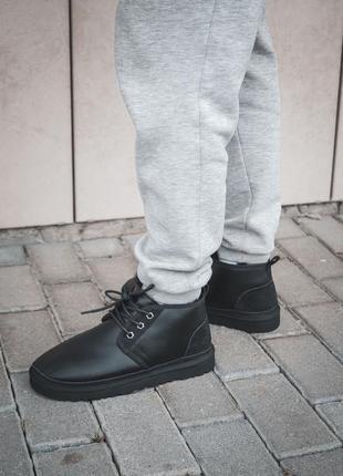 Теплые мужские ботинки ugg в черном цвете /осень/зима/весна😍