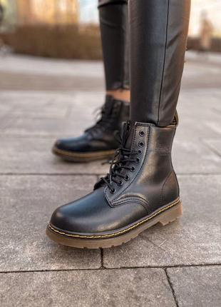 Dr.martens 1460 классические женские меховые ботинки из кожи /...