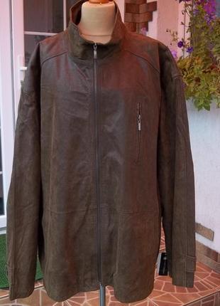 5xl ( 58-62 р) кожаная куртка большого размера новая германия