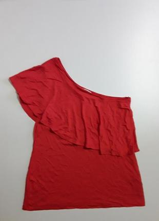 Фирменная майка маечка блуза на одно плечо