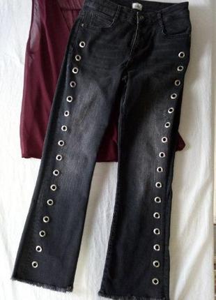 Необычные джинсы полуклеш