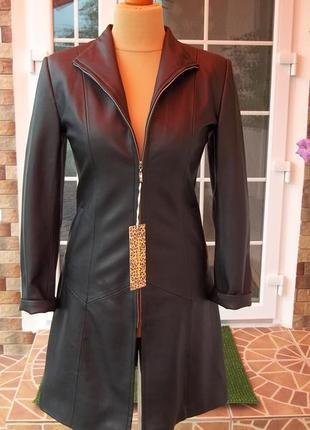 46 р кожаная куртка женская новая турция