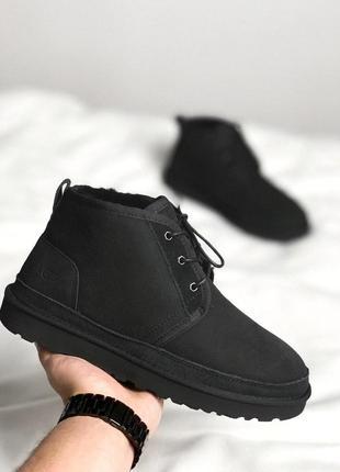Удобные и красивые мужские ботинки ugg neumel black/осень/зима...