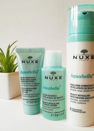 Nuxe aquabella  набор по уходу за комбинированной кожи лица