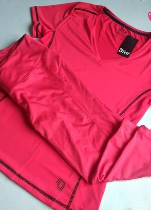 Комплект crivit лосины и футболка спорт, одежда для фитнеса