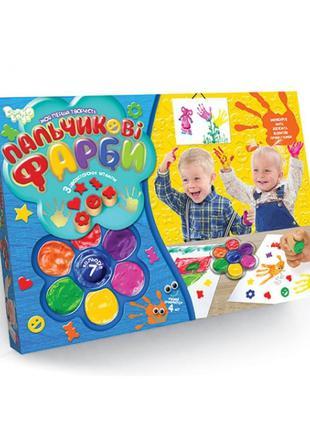 Набор для творчества Пальчиковые краски 7 цветов Danko Toys (6...