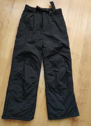 Зимние лыжные штаны брюки на 9-11 лет