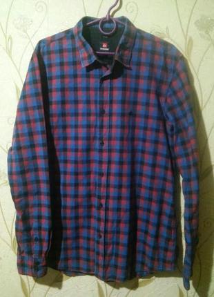 Теплая трендовая рубашка