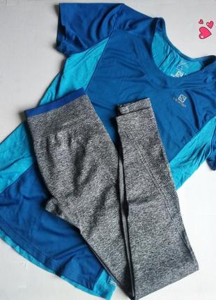 Комплект спортивный леггинсы+ футболка, одежда для фитнеса