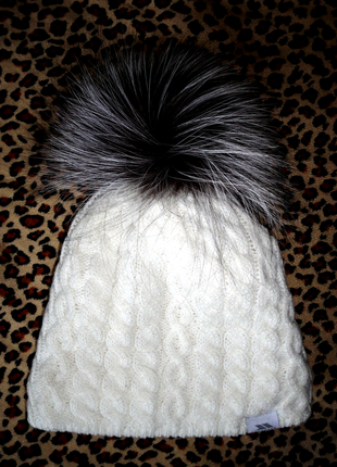 Зимняя шапка чернобурка на меху р.50-56