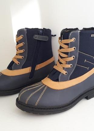 Зимние сапоги ботинки кожаные на утеплителе gio tex gioseppo