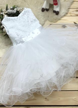 Детское новогоднее пышное платье для девочки