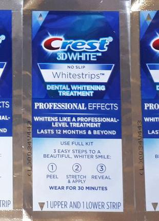 Отбеливающие полоски crest 3d white whitestrips professional e...