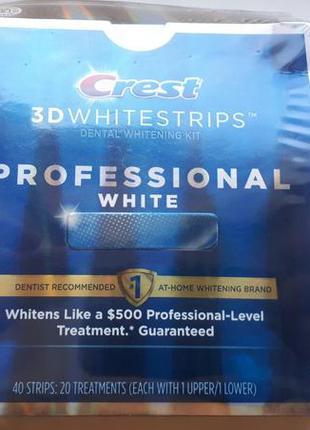 Отбеливающие полоски crest 3d whitestrips professional white о...