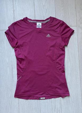 Спортивная футболка adidas clima cool для бега фитнеса