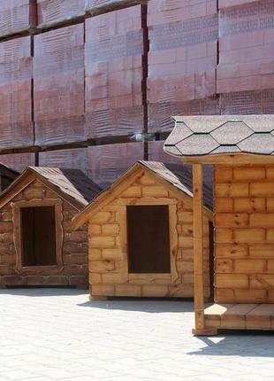 Теплая будка для собаки. Деревянные собачьи будки недорого