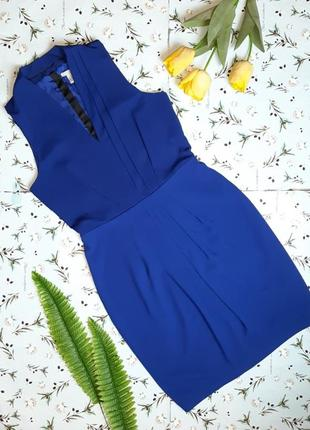 🎁1+1=3 шикарное нарядное синее платье миди с декольте h&m, раз...