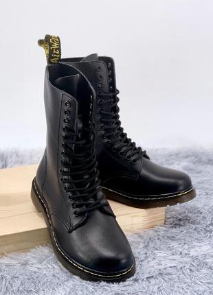 Ботинки dr. martens 1914 black мех (зима)