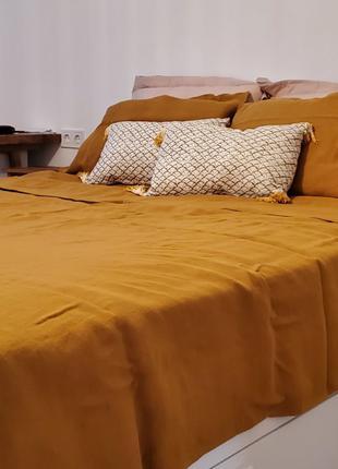 Комплект постельного белья ,льняное постельное белье корица