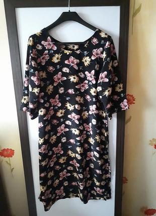 Платье легкое в цветочный принт