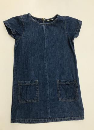 Джинсовое повседневное платье 6 лет. рост 116 см