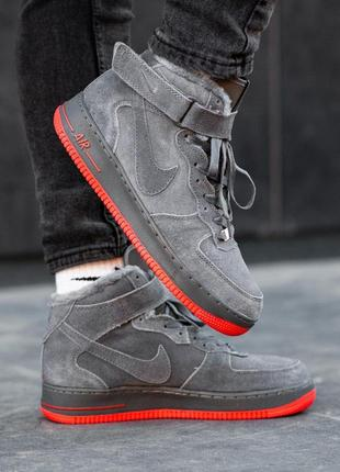 Шикарные мужские зимние кроссовки nike air force winter gray ❄...