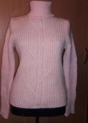 Тёплый гольф в рубчик, пуловер