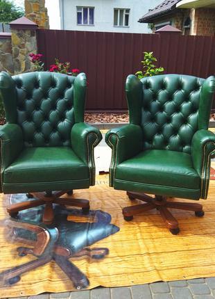 Новое кресло управляющего, кабинетное из натуральной кожи, крісло