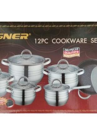 Набор посуды Vissner VS 1255 M (12 предметов)