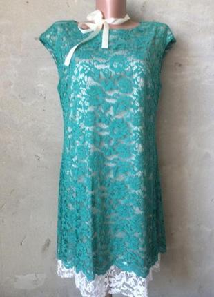 Платье нарядное,ажурное,платье миди/италия