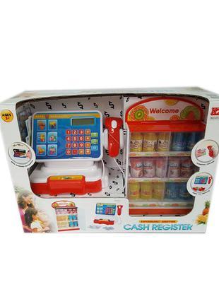 Кассовый аппарат детский на батарейках (звук,сканер,калькулято...