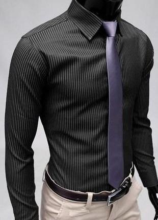 Стильная рубашка, цвет графит