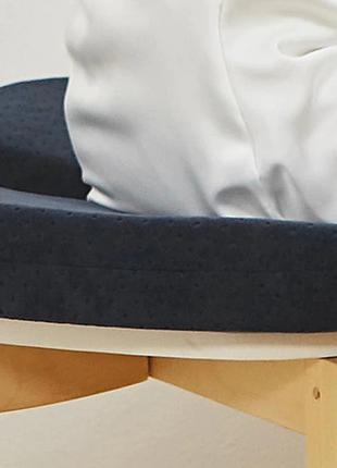 Подушка ортопедическая с эффектом памяти U образная Черный