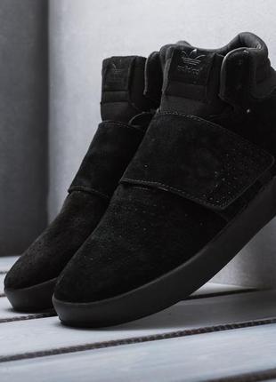 Кроссовки мужские adidas tubular invader strap core black c 40...