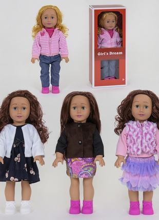 Кукла 8920 F ,4 вида, 45 см