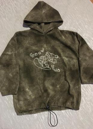 Стильный детский свитер для мальчика флис флиска кофта бобка с...