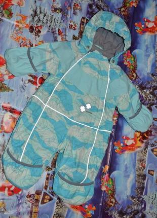 Зимний термо комбинезон для малышей huppa 6-12мес