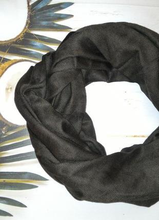 Шарф, палантин 100% пашмина индия, цвет темный шоколад