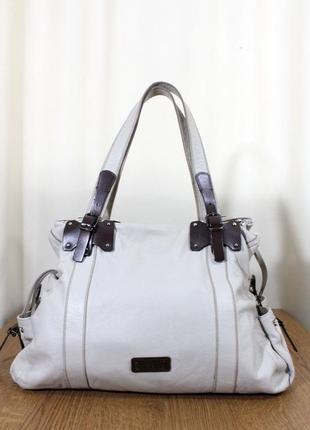 Большая кожаная сумка nicoli