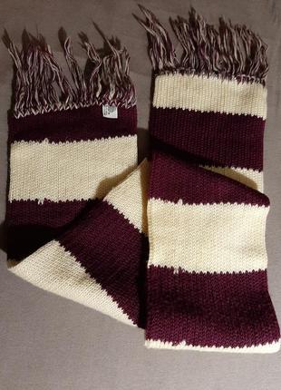Шерстяной двойной шарф woolmark