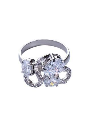 Кольцо из серебра 925 пробы с покрытием из родия афины