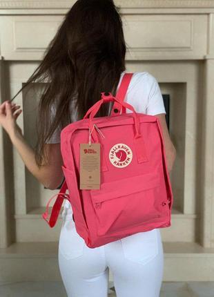 Шикарный рюкзак fjallraven kanken classic в розовом цвете 😍