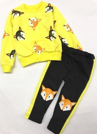 Яркий костюм для девочек лисички