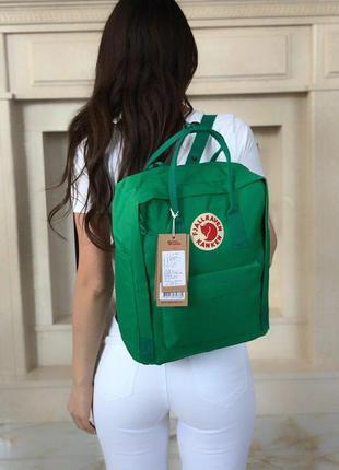 Шикарный рюкзак fjallraven kanken classic в суперском зелёном ...