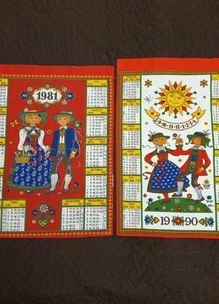 Набор kolf, винтажные полотенца, календарь 1981,1990г.