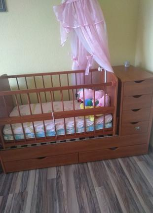 Дитяче ліжечко трансформер